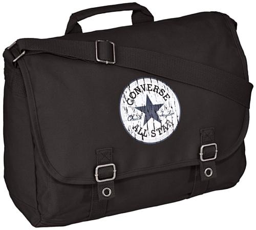 Converse Umhängetasche Vintage Patch Canvas Flapbag 15.9 Liter Schwarz (Black) 98306B-62 (Bag Flap)