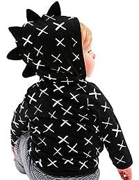 Abrigo para bebé niño con capucha , Yannerr Chico invierno Patrón del dinosaurio encapuchados chaqueta sudadera capa ropa outwear gruesa caliente