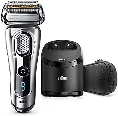 Braun Series 9 9290cc - Afeitadora eléctrica con tecnología Wet&Dry y sistema Clean&Charge, plata
