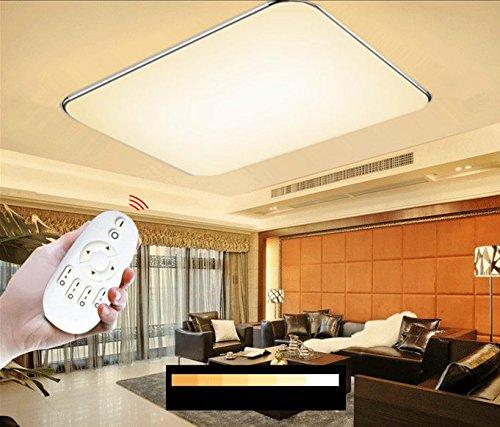 SAILUN 96W LED Dimmbar Deckenleuchte Ultraslim Modern Deckenlampe Flur Wohnzimmer Lampe Schlafzimmer Küche Energie Sparen Licht Wandleuchte Farbe Silber Kaltweiß/Warmweiß/(96W Ultraslim Dimmbar)