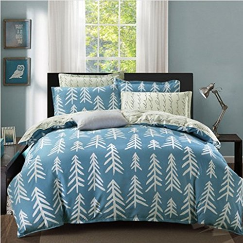 King/Queen 100% Baumwolle Bettbezug Einzel Doppel Bettbezug (Nur gehören Bettbezug), geschliffen Baumwolle Bettbezug, Parfüm Bay, 180 × 220 cm