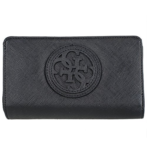 Guess Carly SLG Medium Zip Around VG621145 Damenbörse 17x10x3cm black (Medium Wallet Zip)
