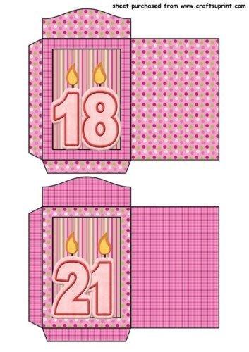 Feuille A4 pour confection de carte de vœux - 18th and 21st seed packets par Sharon Poore