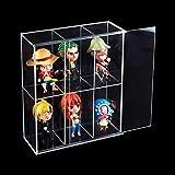 Antipolvere vetrina per 3 In Scatola Collezionismo Funko Pop basi di colore