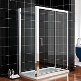 Duschkabine 100x90cm Rechteck Duschabtrennung Schiebetür mit Seitenwand