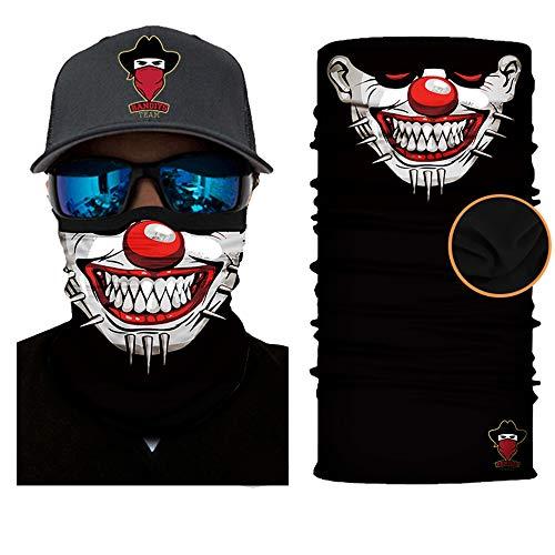 Preisvergleich Produktbild [ Winter-Fleece] Bedrucktes Multifunktionstuch Bandana Halstuch Kopftuch: Face Shield- Material ist flexibel und atmungsaktiv - Maske fürs Motorrad-,  Fahrrad- und Skifahren