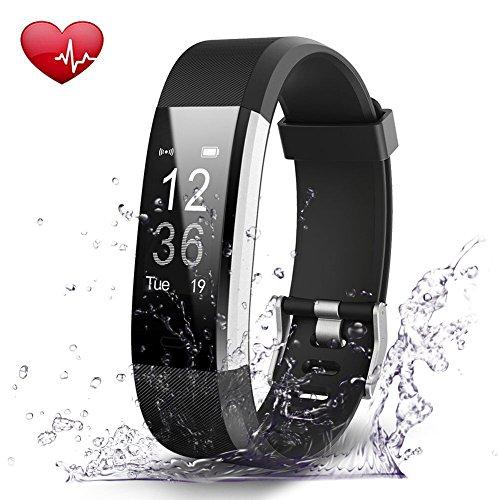 Navtour Fitness Armband Smart Armband Bluetooth 4.0 mit Herzfrequenzmesser, Schrittzähler,Kalorienzähler,Schlaf-Monitor, Wasserdicht IP67,GPS,Musik/Kamera-Steuerung,Anrufen/SMS,Wecker,für Android ios