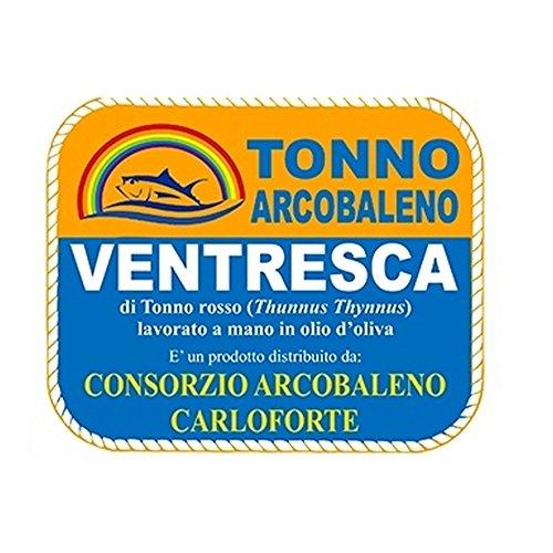 VENTRESCA DI TONNO ROSSO CONSORZIO ARCOBALENO CARLOFORTE 350GR