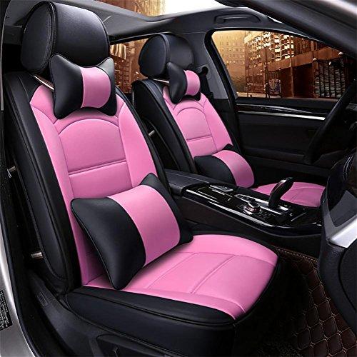 DIELIAN Auto Sitzbezug Sitzbezüge Schonbezüge Schonbezug Universal PU Leder , Pink