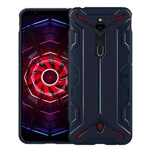 CRESEE Red Magic 3 Hülle Case, Schutzhülle Soft Silikon Cover Bumper Stoßfest Handyhülle Fall für ZTE Nubia Red Magic 3 (Blau)
