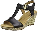 Gabor Shoes Damen Comfort Wedges, schwarz (Bast) 57, 40.5 EU