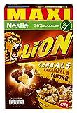 Nestlé Lion Cereals, caramelo y Chocolate cereales con Completo grano, 4unidades (4x 675g)