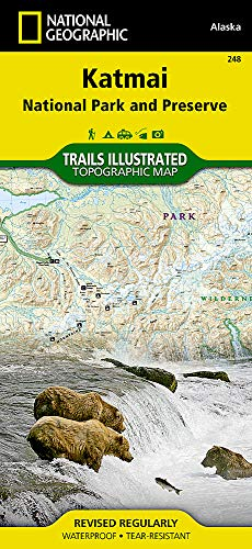 Katmai National Park & Preserve: National Geographic Trails Illustrated Alaska (National Geographic Trails Illustrated Map, Band 248)