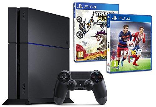 Pack PS4 500 Go + Fifa 16 + Trials Fusion - édition Awesome Max