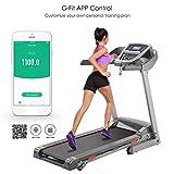Oldhorse S8100 Tapis de Course Électrique Pliable Tapis Roulant Fitness Treadmill avec Moteur 3,0HP et 7' Affichage LCD,Vitesse Max 14 km/h,Machine de Fitness Gym Maison
