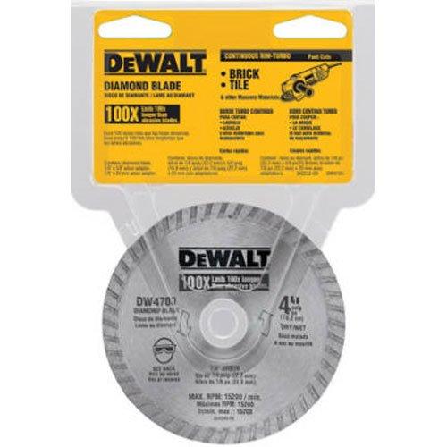 DeWALT Dw4700 industriel 10,2 cm à sec ou humide de coupe diamant continu Lame de scie avec 7/20,3 cm Tonnelle