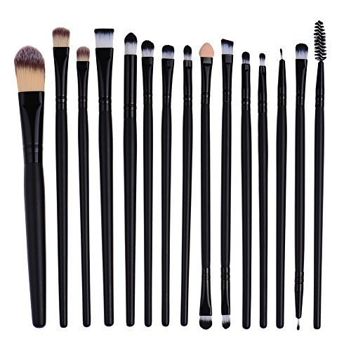 Pro 15 pcs / Définit Eye Shadow Foundation Sourcils Lip Brush pinceaux de maquillage outil