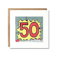 Idea Regalo - James Ellis, biglietto di auguri Kapow Shakies per il 50esimo compleanno