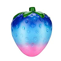 Prevently New Creative 13cm Jumbo Galaxy Strawberry Scented Squishy Slow Rising Squeeze Strap Kids Toy Gift (D4)
