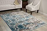 Nourison 99446339751-avorio blu tessuto a macchina tappeto, avorio blu, 0,9m 22,9cm x 1,5m 22,9cm