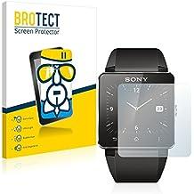 BROTECT AirGlass Protector Pantalla Cristal Flexible Transparente para Sony Smartwatch 2 Protector Cristal Vidrio - Extra-Duro, Ultra-Ligero, Ultra-Claro