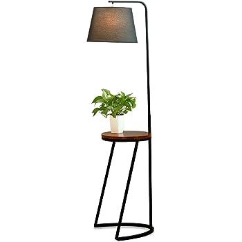 Lampada da Terra in Legno Lampada Piantana Moderna di Stile Minimalista Con Tavolino Home mall per Sala Studio Camera da Letto Soggiorno 51X35.5X142cm