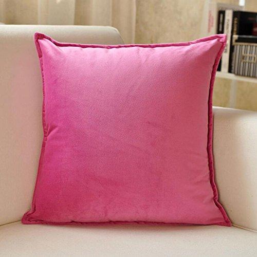 Almohada CJC Cojines Respaldo Textiles Espalda Apoyo Lujo Planta Algodón Cubrir Lumbar Cama Sofá Oficina Silla Descanso (Color : T9, Tamaño : 45 * 45cm)