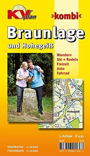 Braunlage-und-Hohegei-110000-Stadtplan-mit-Freizeitkarte-125000-KVplan-Harz-Region-httpwwwkv-plandeHarzhtml