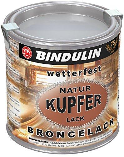 Bindulin Kupferlack wetterfest natur Metallfarbe (250 ml)
