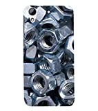 printtech Metal Nuts Screws Back Case Cover for HTC Desire 728 / HTC Desire 728G