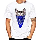 ♚Blusa de los Hombres, Camiseta de la Impresión de la Moda Camisetas de Impresión Camisa de Manga Corta Camiseta Blusa Absolute (S, Azul Claro)