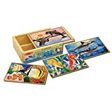 Melissa and Doug Deluxe Sea Life in a Box Jigsaw Puzzles