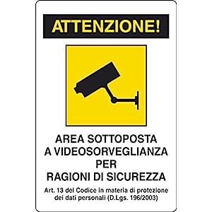 Cartello Segnalo Plastica Videosorveglianza 4 spesavip