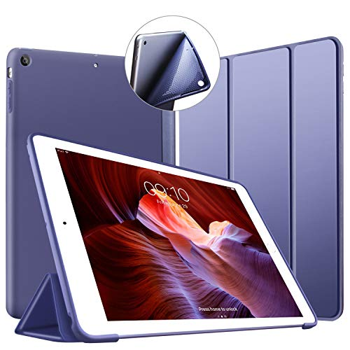 VAGHVEO Custodia per iPad Air, Ultrasottile e Leggere Smart Case con Funzione Auto Sleep/Wake Silicone Morbido TPU Cover per Apple iPad Air 1 9.7 Pollici 2013 (Modello A1474,1475,1476), Blu Marino