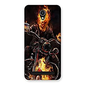 Enticing Ghost Multicolor Rider Back Case Cover for Zenfone Go