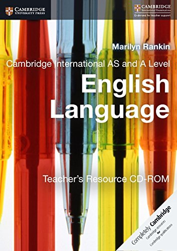 Cambridge International AS and A Level English Language. Teacher's Resource. CD-ROM