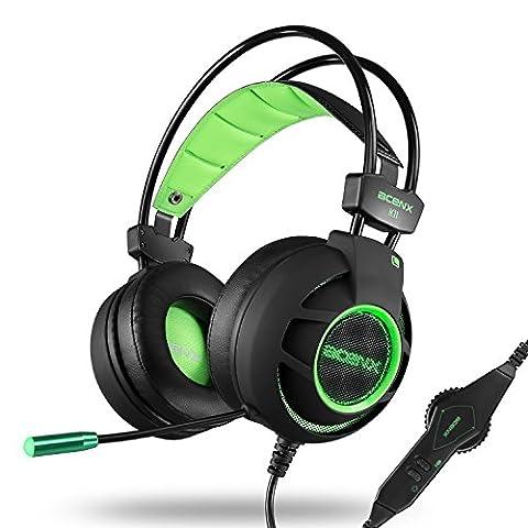 Lyhoon k11 Casque Gaming pour PS4 Xbox one PC Gamer nouveaux casques stéréo , poids léger Noise Cancelling Ultra-Léger et Bande Comfortable avec clignotant LED