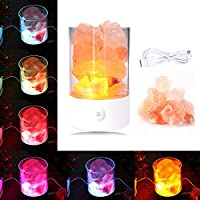 Himalaya-Salz-Nachtlicht mit Dimmer, AOLVO USB himilian Meersalz Kristall Nachtlicht Natürliche Luftreiniger und... preisvergleich bei billige-tabletten.eu