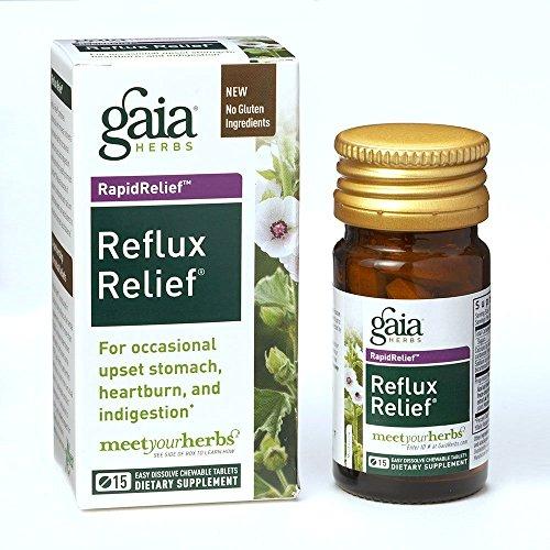 Gaia Herbs, Reflux Relief 15 Tabletten - Gaia Kräuter