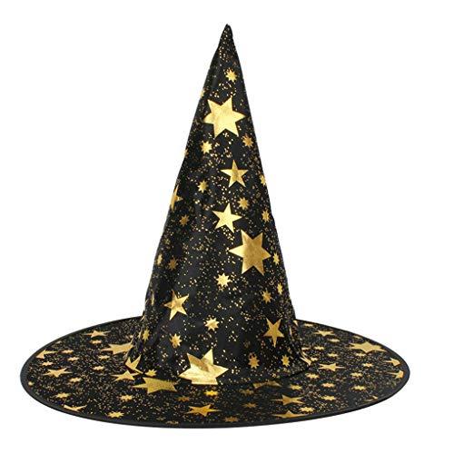 Kostüm Kichert - Timlatte Erwachsene Damen Herren Unisex Starry Hexenhut für Halloween-Kostüm Teufel Cap Halloween Kostüme Artikel