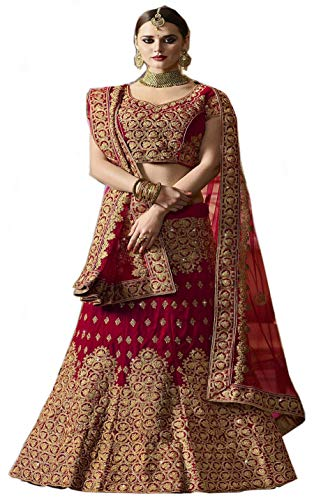 e30d8e475885 Globalia Creation embroidered semi stitched lehenga for women   womens  Today preminum lehengas collection 2018