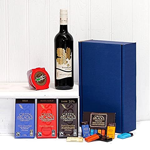 Red Wine & Chocolate Survival Kit Gift Box Hamper with 750ml Broadleaf Cabernet Sauvignon Wine Gift ideas for Father's Day, Birthday, Anniversary and Corporate Gifts