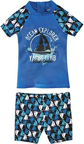 lupilu Jungen UV-Schutz-Zweiteiler für Wasser und Strand Ocean Explorer(Zweiteilig - Blau/Segelbote, Gr. 74/80)