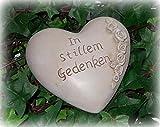 Gedenkherz 'In stillem Gedenken' aus Polyresin 9 cm