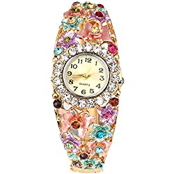 Sanwood® Women's Flower Butterfly Crystal Bracelet Wrist Watch
