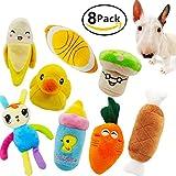 Giocattoli di peluche, cucciolo di cuccioli di animali domestici Squeaky Sound Kit di giocattoli da masticare per cani di piccola taglia e colori medi Varia (8 pezzi)