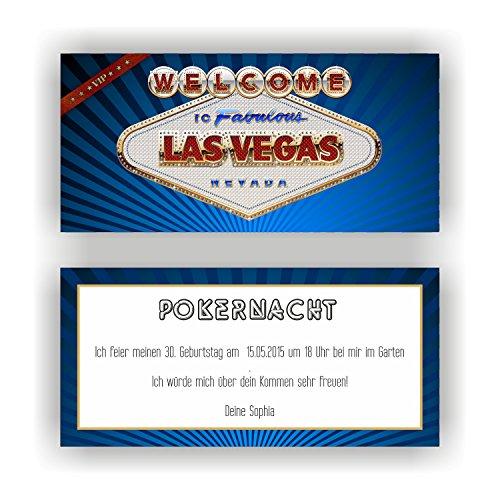 stag CASINO LAS VEGAS I Einladungskarten (50 Stück) ()