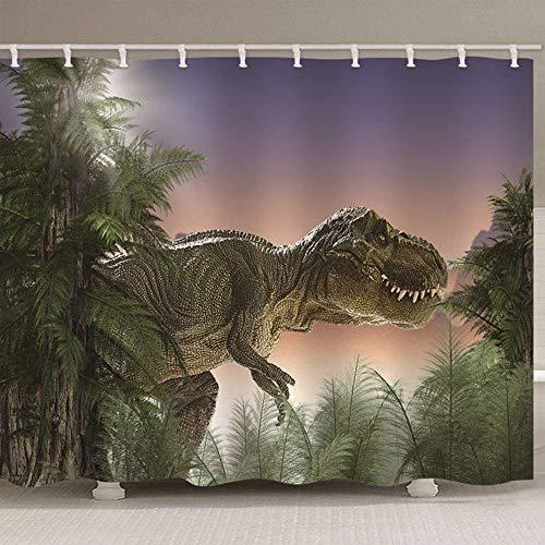 3D-Dusche Cutrtain Monster Tier Wasserdicht Mehltaubeweis Umweltfreundlich Geruchlose Badezimmerdekoration 12 Haken, 180 (B) X 180 (H) cm