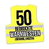 Korntex Warnwesten Sicherheitswesten bedrucken mit eigenem Logo 1farbig 50 Stück