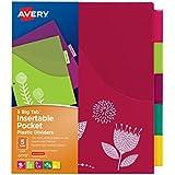 Avery Big Tab Pocket Insert able Plastic Dividers, 5-Tab Set, 1 Set (07712)